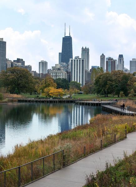 Hancock Over Lincoln Park by Ashley ML Studios
