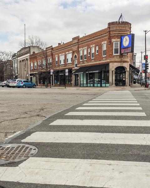 Strolling Down the Street by Ashley ML Studios