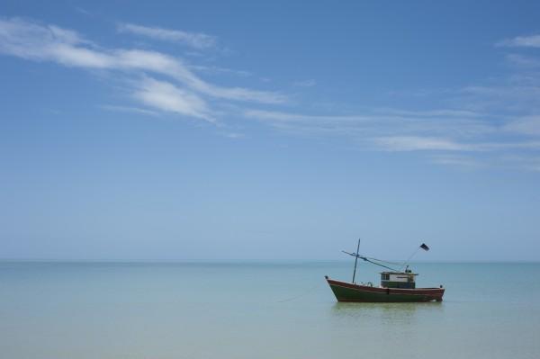 The little boat by Augusto Miranda