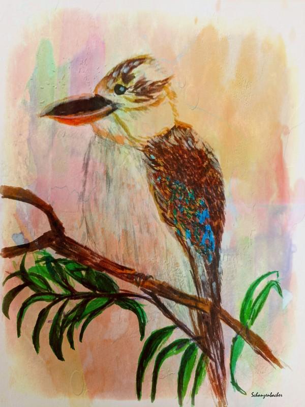 Kookaburra Bird  by Aurelia Schanzenbacher Sisters Fine Arts