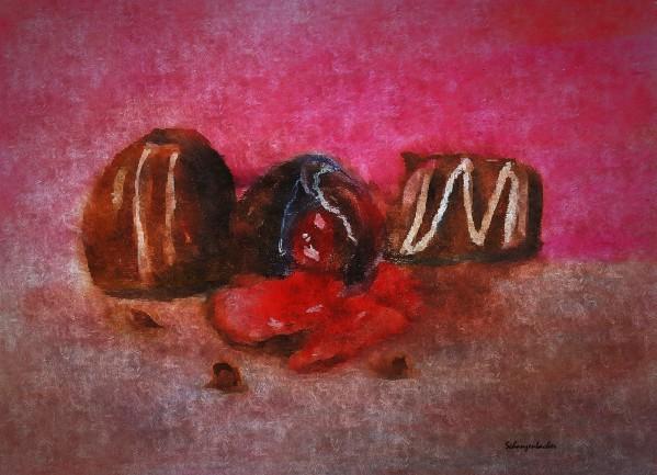 Chocolate Candy by Aurelia Schanzenbacher Sisters Fine Arts