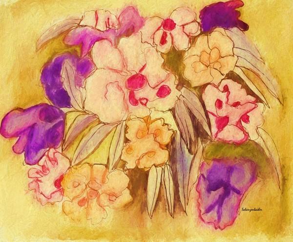 Floral pansies by Aurelia Schanzenbacher Sisters Fine Arts