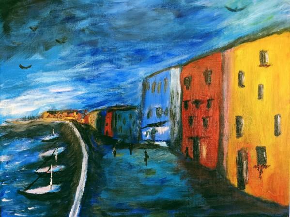 The Boardwalk Original by Aurelia Schanzenbacher Sisters Fine Arts