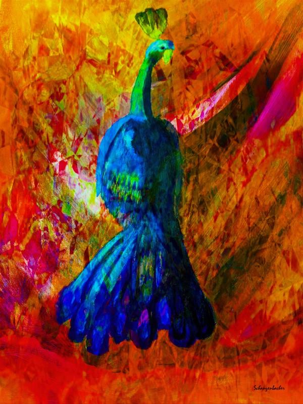 Peacock by Aurelia Schanzenbacher Sisters Fine Arts