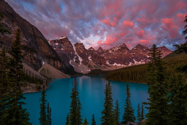 Pink Cotton Candy Moraine by Aurelio Matthew Leal
