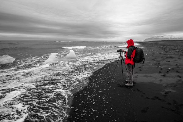 Red Jacketed Photographer by Aurelio Matthew Leal