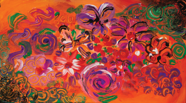 abstract colorful garden by BBS Art