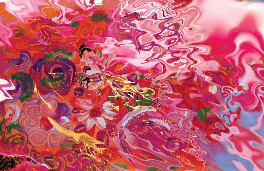 abstract floral suggestion by BBS Art