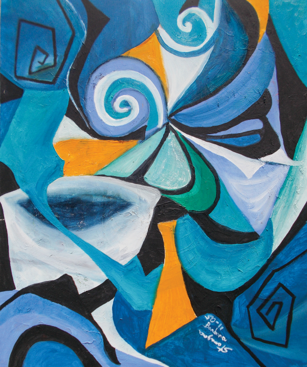 blue mood abstract by BBS Art