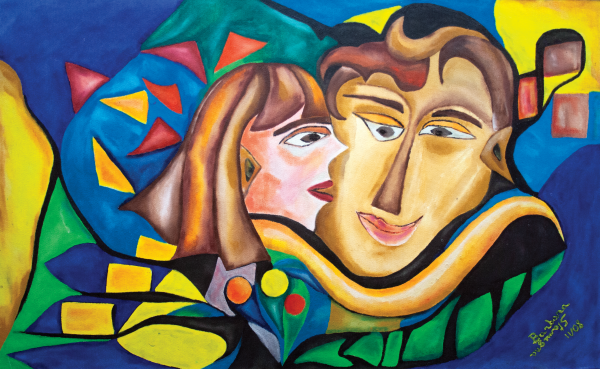 kissing woman by BBS Art