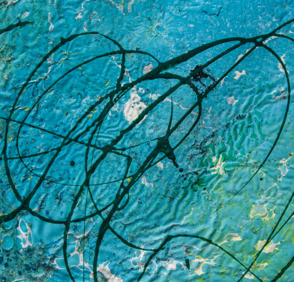 light blue abstract by BBS Art