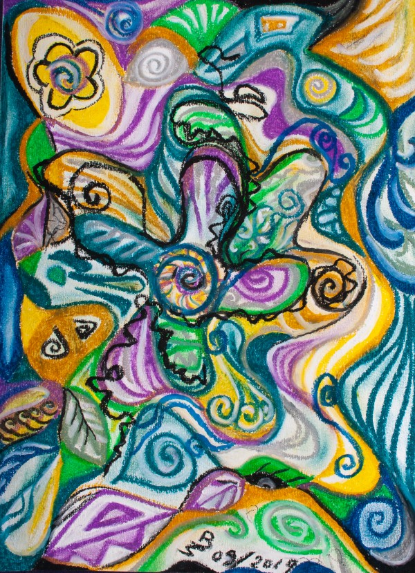 multicolored abstract composition by BBS Art
