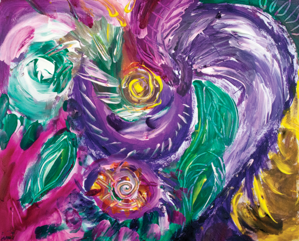 purple tones abstract by BBS Art