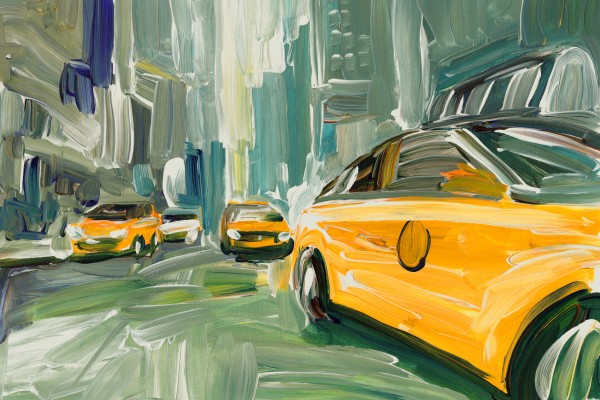 Yellow Cabs  by Bart E Slyp