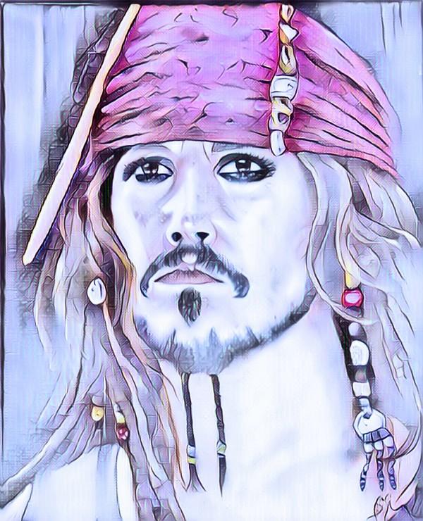Portrait dun pirate by Biji sylvie faucher