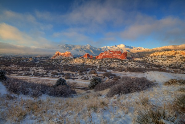 MORNING GLORY AT GARDEN OF THE GODS by Bill Sherrell