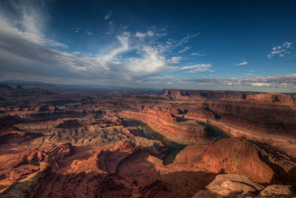 SUNRISE OVER DEAD HORSE CANYON-UTAH-3-CROPPED by Bill Sherrell