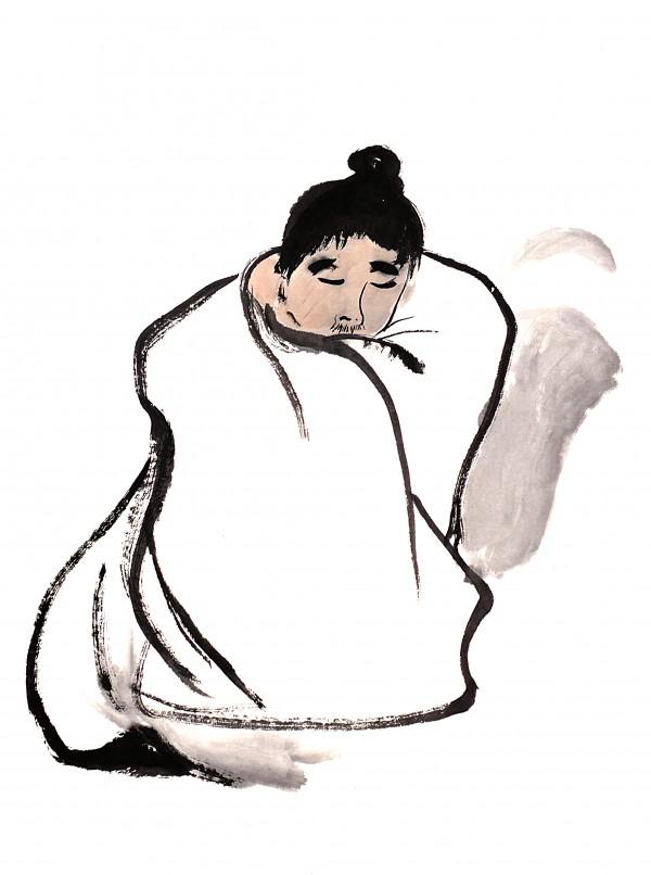Monk - Zen by Birgit Moldenhauer