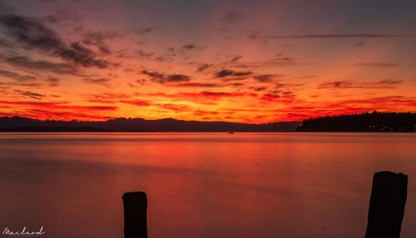 August Sunrise in Qualicum DSC_3541 by Brian Macleod