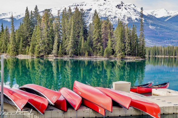 JasperParkLodge_red_canoes by Brian Macleod