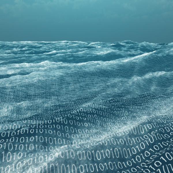 Vast binary code Sea by Bruce Rolff