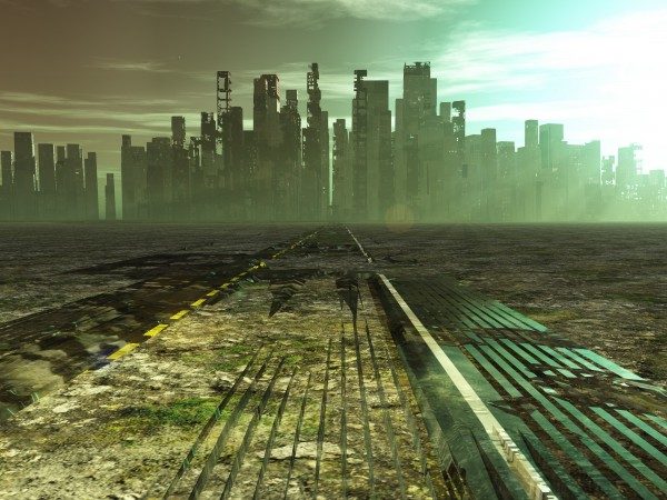 Post-apocalyptic city by Bruce Rolff