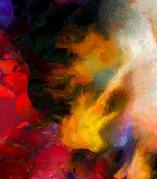 Colorful oil on canvas by Bruce Rolff