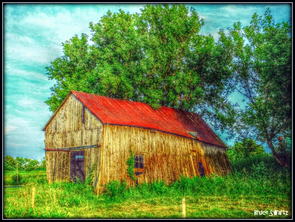Red Country Barn HDR by Bruce Swartz