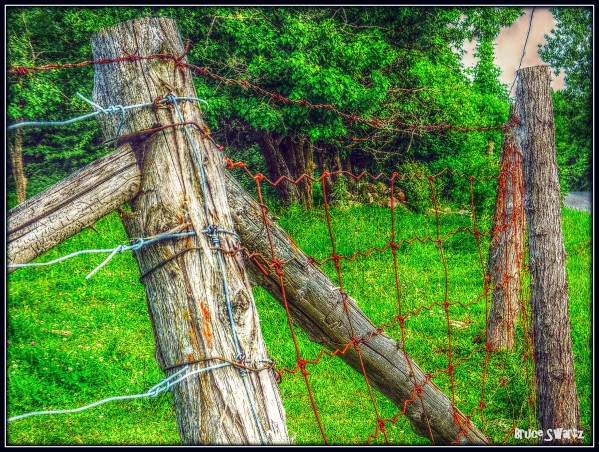 Country Road Fence by Bruce Swartz