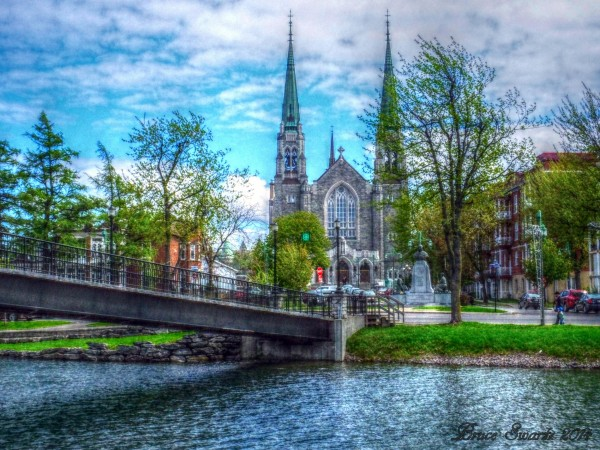 Cathedral Waterway & Bridge HDR by Bruce Swartz