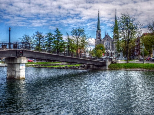 The Old Canal & Cathedral by Bruce Swartz