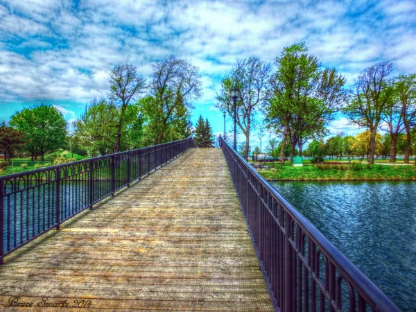 Bridge Over Water HDR by Bruce Swartz