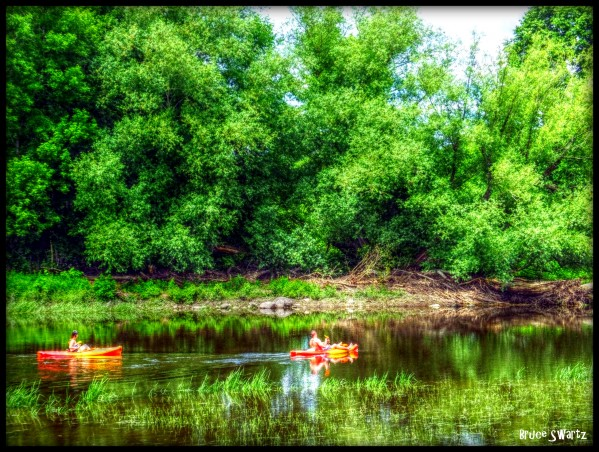 Romantic Canoe Ride  HDR by Bruce Swartz