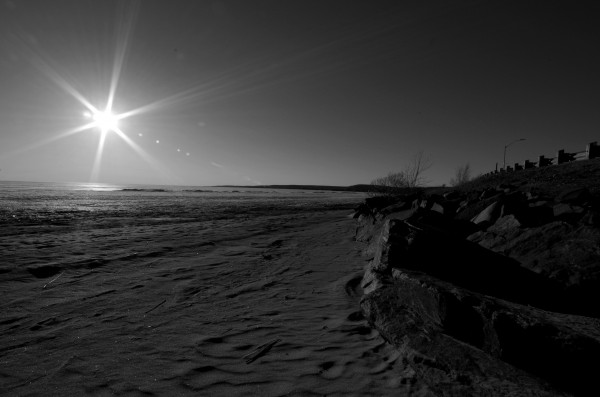 Lake Nipissing Black and White 2 by Bunnoffee Photography
