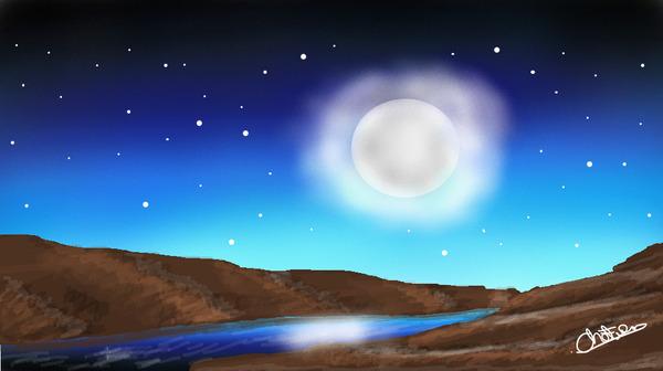 Night Moon by Chanthiraa Chelvan
