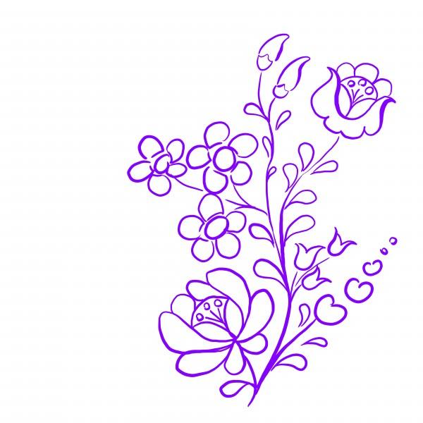 purple hungarian pattern by Chino20