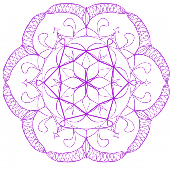 purple mandala by Chino20