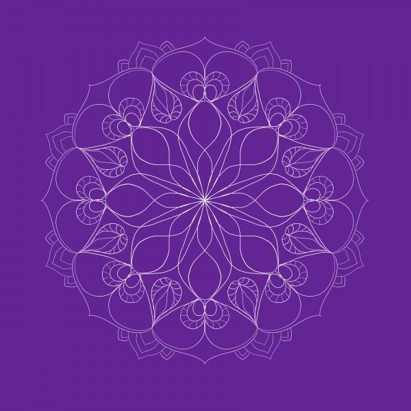 dark purple mandala by Chino20