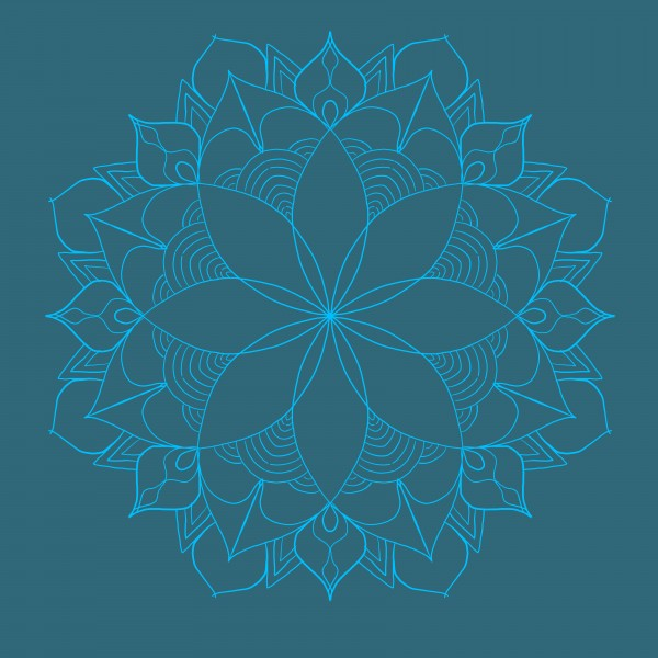 dark blue mandala by Chino20