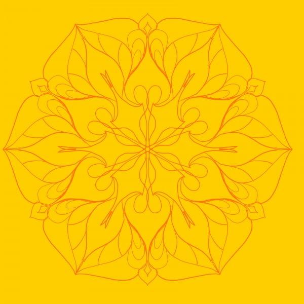 orange colored mandala by Chino20