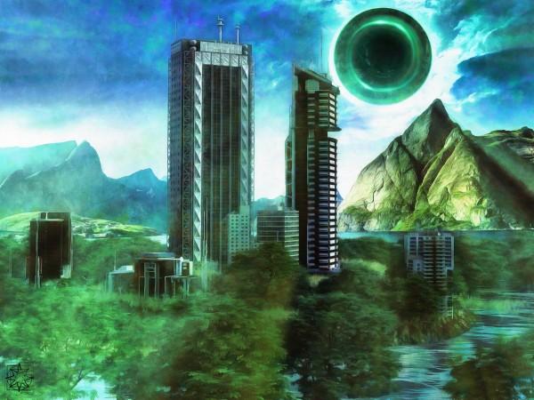Hybrid City by ChrisHarrisArt