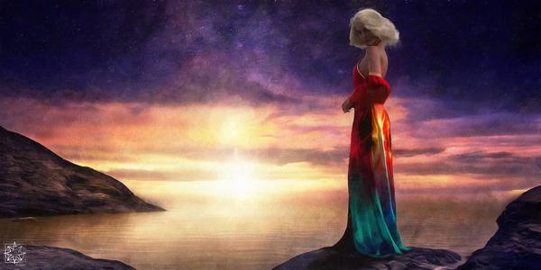 Lady at the Lake by ChrisHarrisArt