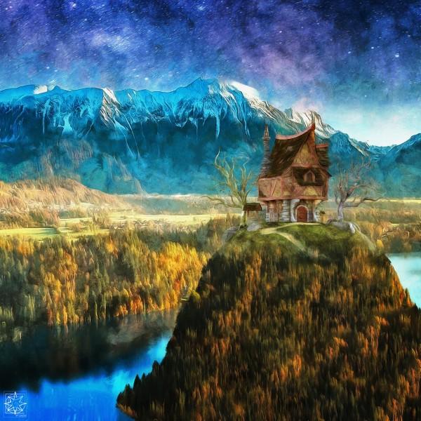 Peculiar House by ChrisHarrisArt