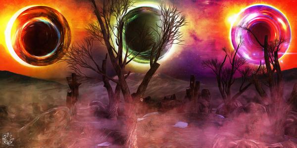 The Dark Suns by ChrisHarrisArt