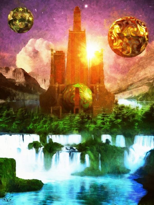 The Heavenly Citadel by ChrisHarrisArt