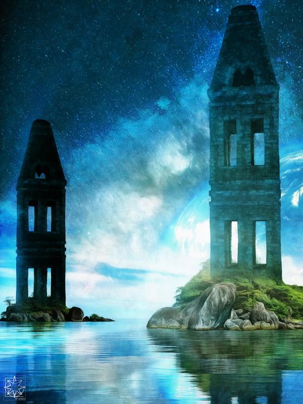 Tidal Towers by ChrisHarrisArt