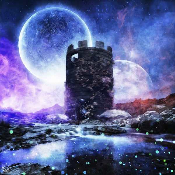 Two Moon Tower by ChrisHarrisArt