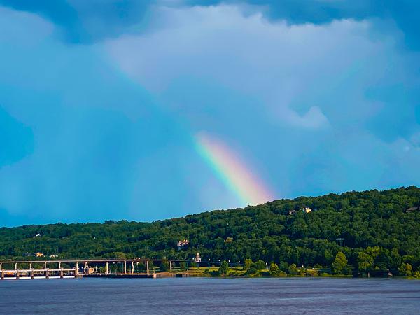 Arkansas River Rainbow  by Cindy Rogers