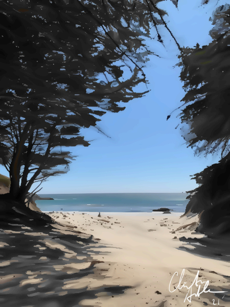 Peaceful Beach by Clint Hubler