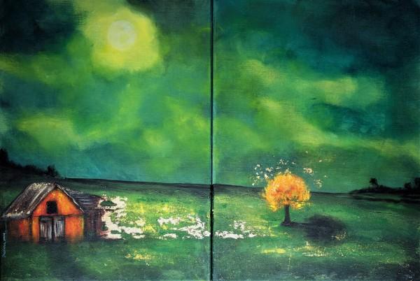 automnal night by Daciana